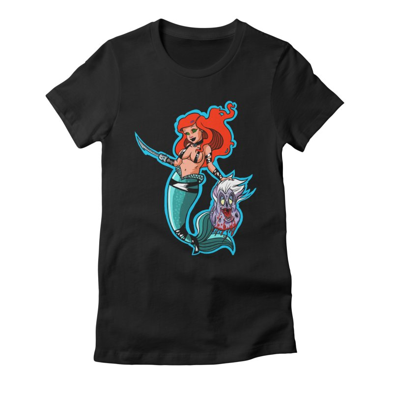 Sea Sinner Women's Fitted T-Shirt by Len Hernandez's Artist Shop