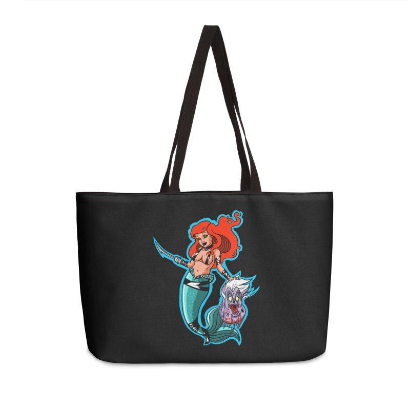 Sea Sinner Accessories Weekender Bag Bag by Len Hernandez's Artist Shop