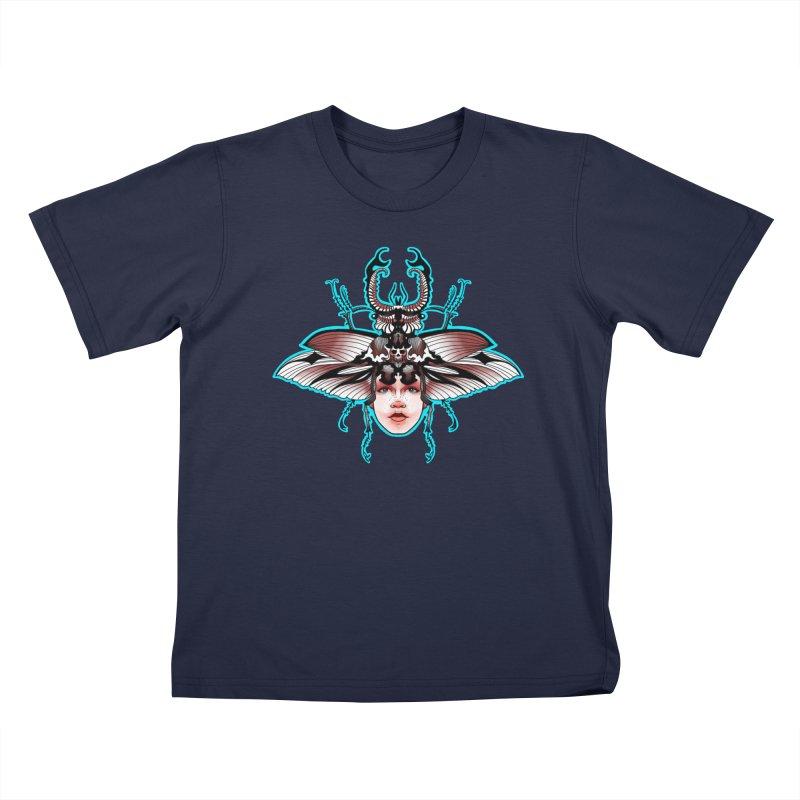 Beetle She Kids T-Shirt by Len Hernandez's Artist Shop