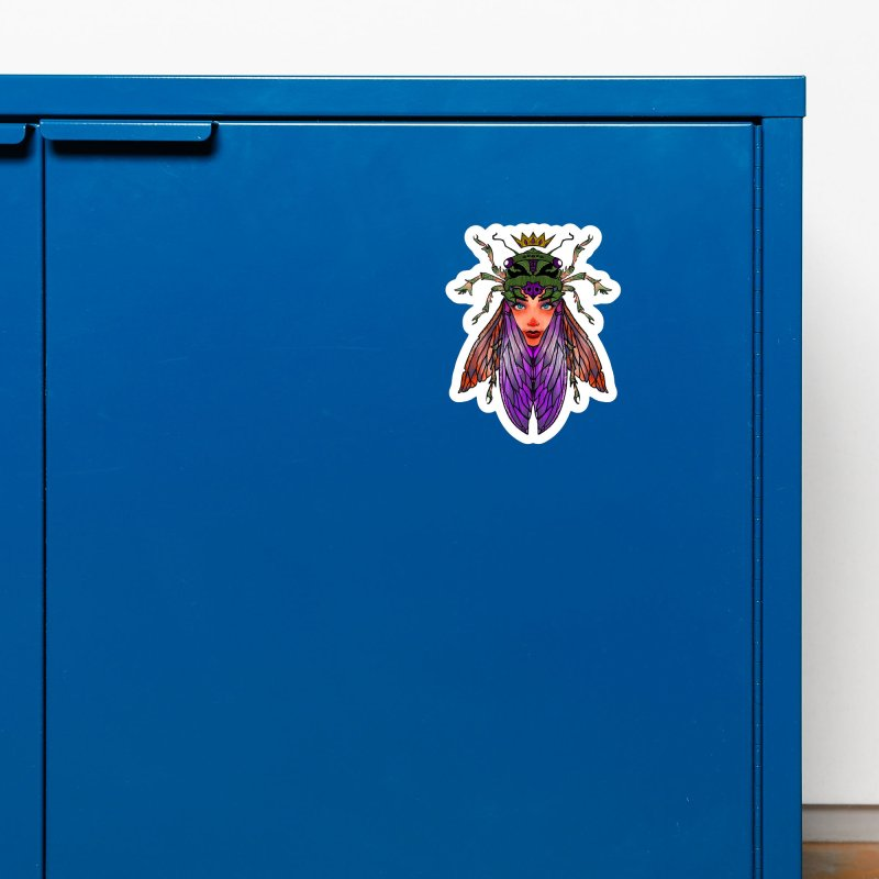 Madam Cicada Accessories Magnet by Len Hernandez's Artist Shop
