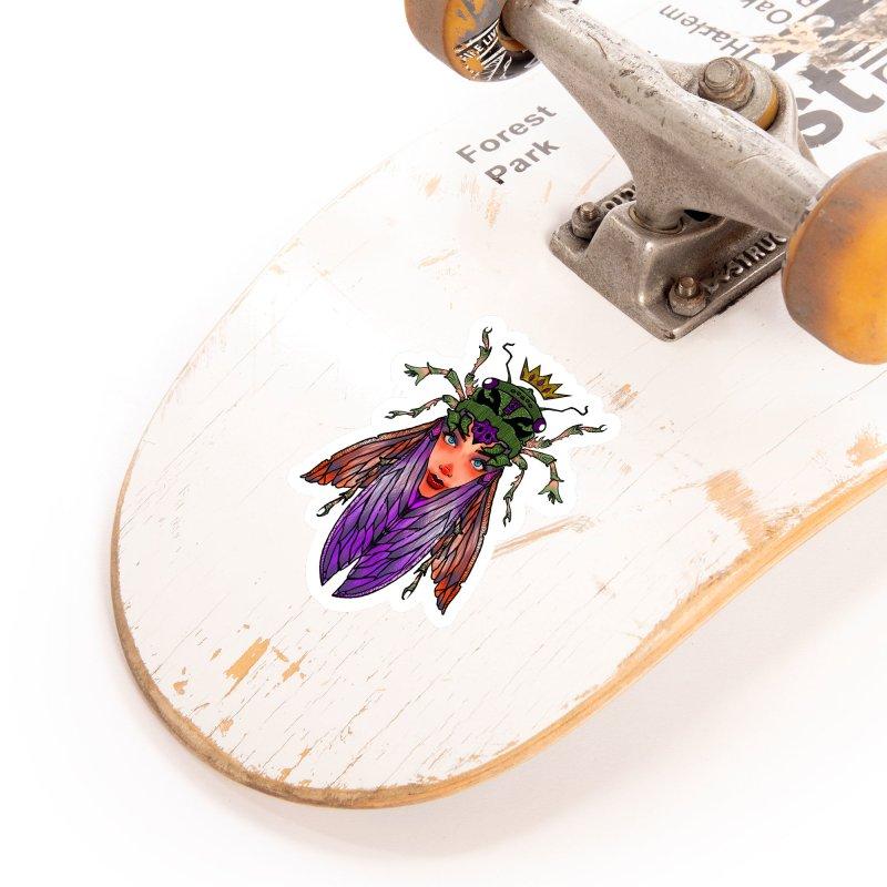 Madam Cicada Accessories Sticker by Len Hernandez's Artist Shop