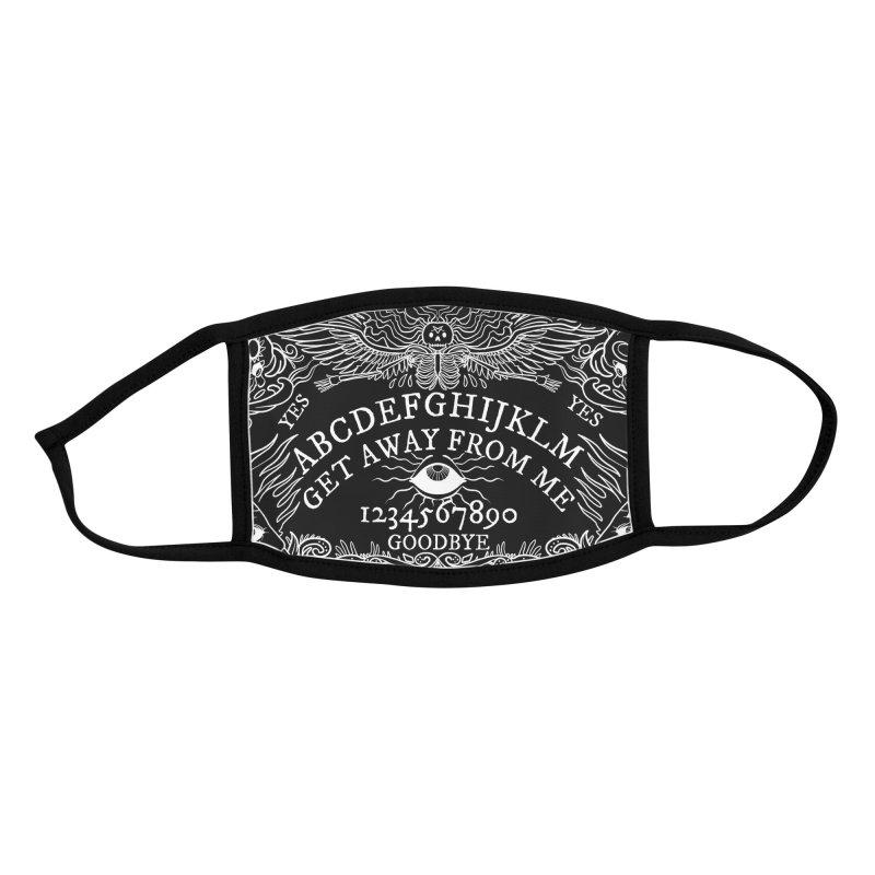 Ouija Mask Accessories Face Mask by Len Hernandez's Artist Shop