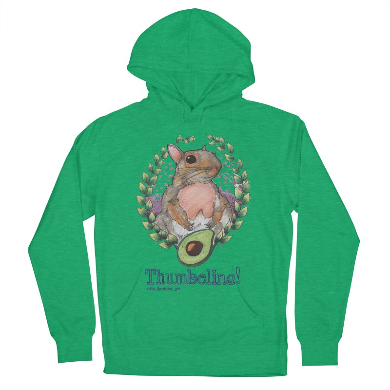 Thumbelina Shirts! Women's French Terry Pullover Hoody by Len Hernandez's Artist Shop