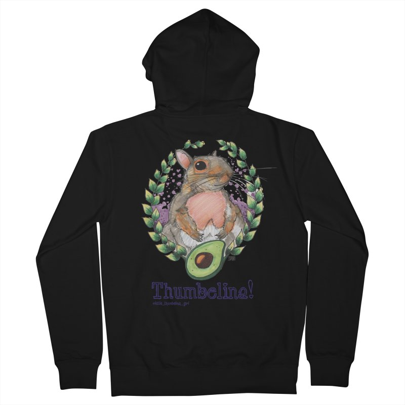 Thumbelina Shirts! Men's French Terry Zip-Up Hoody by Len Hernandez's Artist Shop