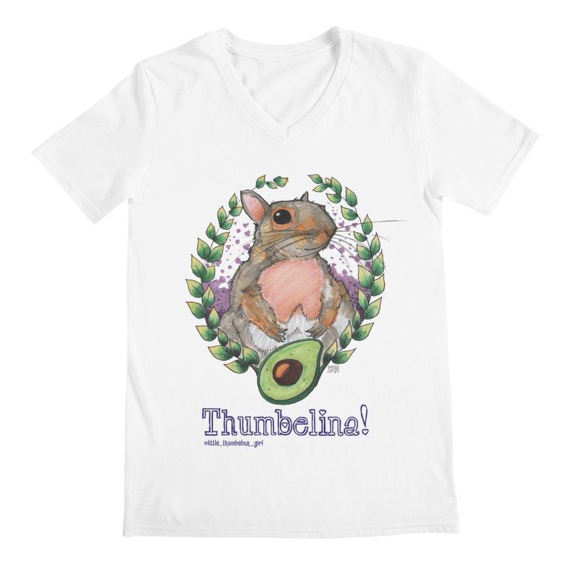 Thumbelina Shirts! Men's Regular V-Neck by Len Hernandez's Artist Shop
