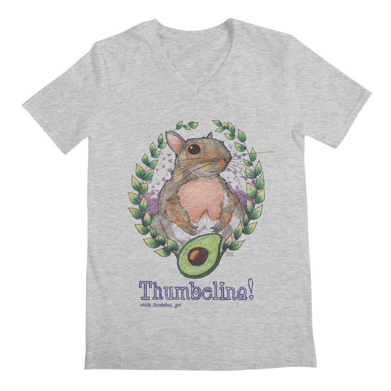 Thumbelina Shirts! Men's Regular V-Neck by Len Hernandez's Artist Shop