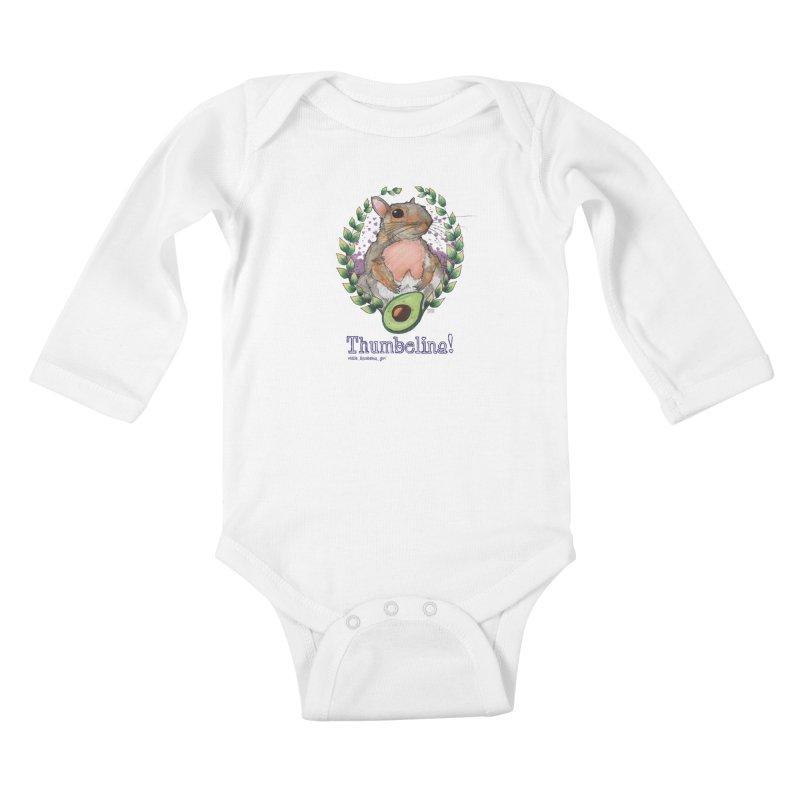 Thumbelina Shirts! Kids Baby Longsleeve Bodysuit by Len Hernandez's Artist Shop