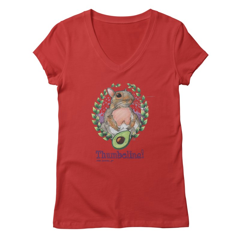 Thumbelina Shirts! Women's Regular V-Neck by Len Hernandez's Artist Shop