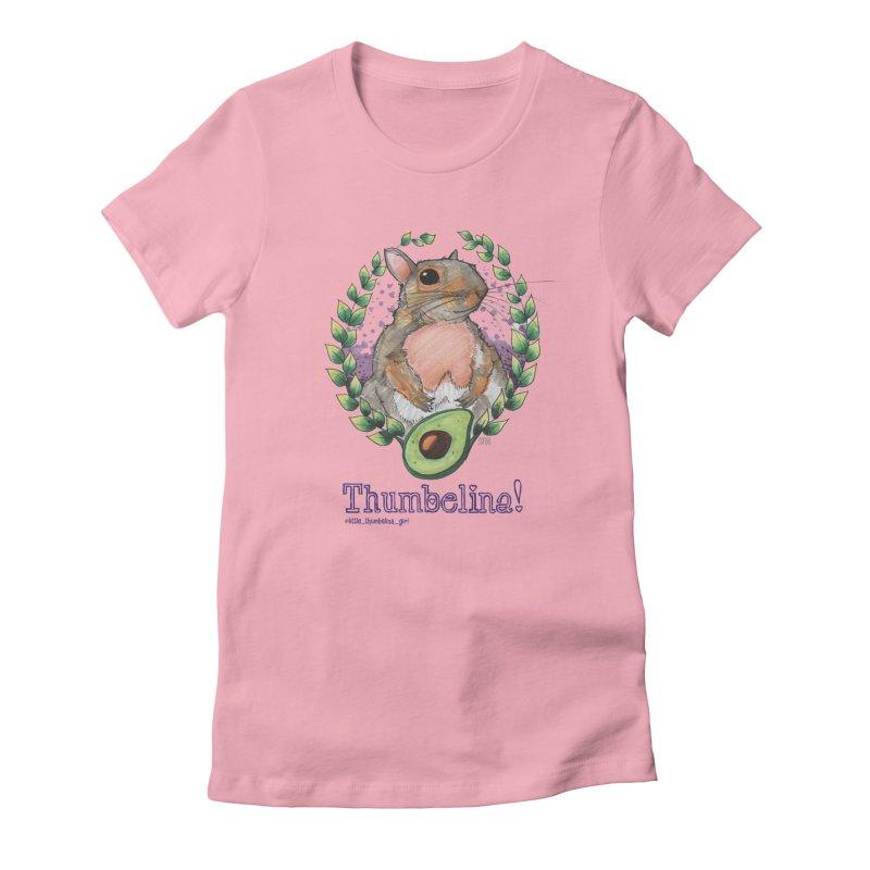 Thumbelina Shirts! Women's Fitted T-Shirt by Len Hernandez's Artist Shop