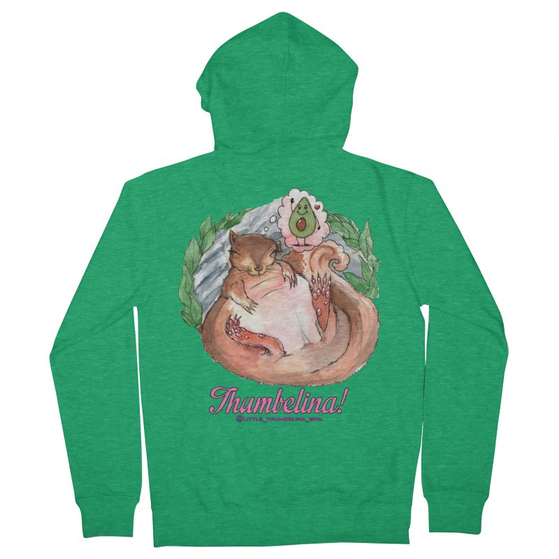 """Clothing - """"Sweet Dreams for Thumbelina"""" Women's French Terry Zip-Up Hoody by Len Hernandez's Artist Shop"""
