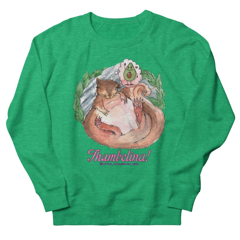 "Clothing - ""Sweet Dreams for Thumbelina"" Women's French Terry Sweatshirt by Len Hernandez's Artist Shop"