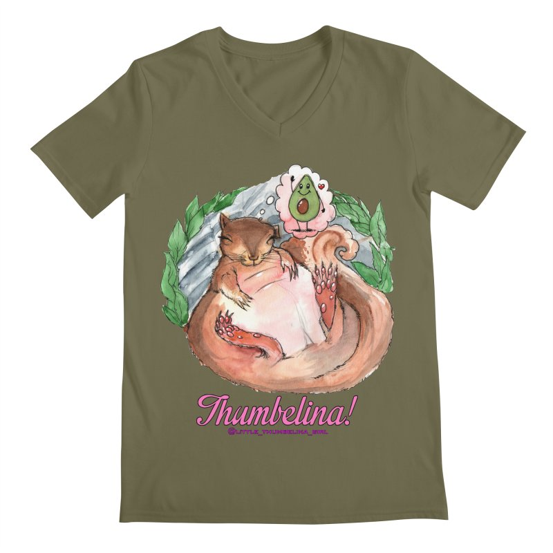 "Clothing - ""Sweet Dreams for Thumbelina"" Men's Regular V-Neck by Len Hernandez's Artist Shop"