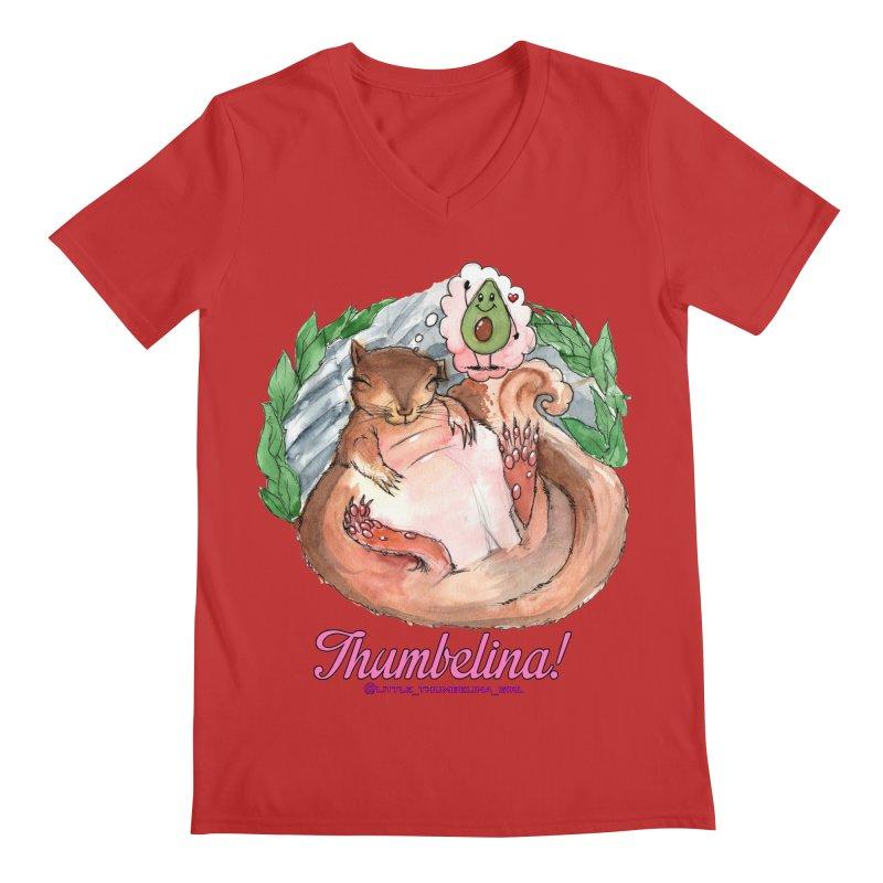 """Clothing - """"Sweet Dreams for Thumbelina"""" Men's Regular V-Neck by Len Hernandez's Artist Shop"""