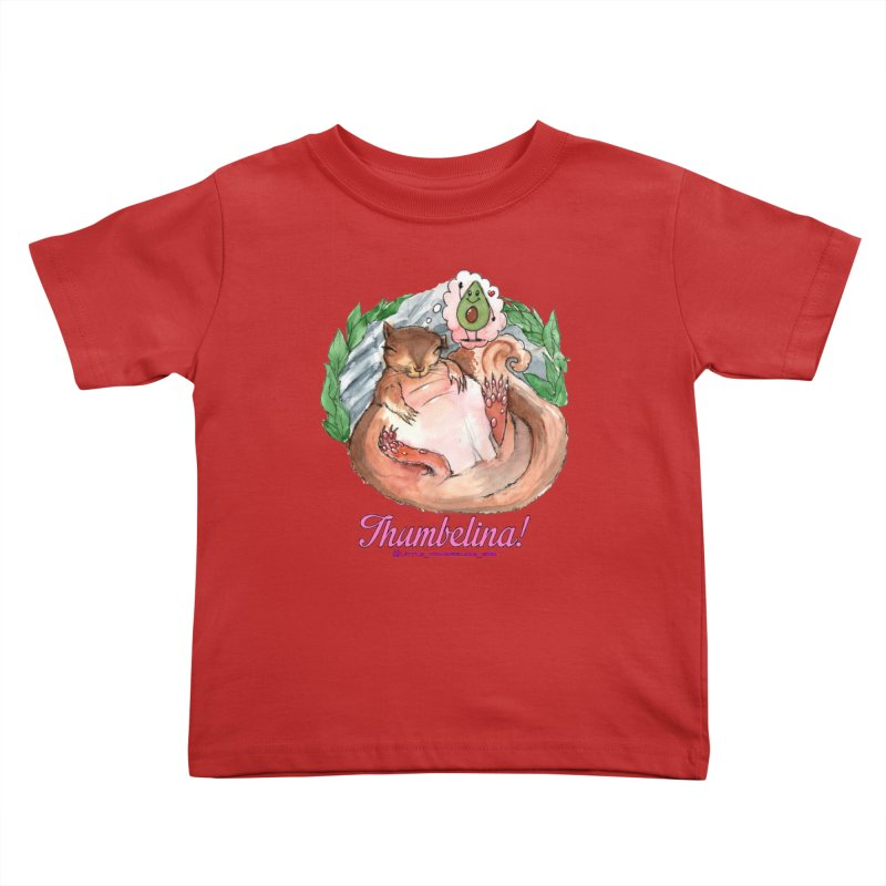 "Clothing - ""Sweet Dreams for Thumbelina"" Kids Toddler T-Shirt by Len Hernandez's Artist Shop"
