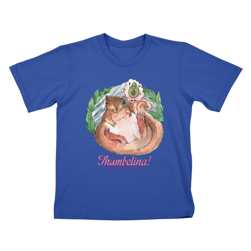 "Clothing - ""Sweet Dreams for Thumbelina"" Kids T-Shirt by Len Hernandez's Artist Shop"