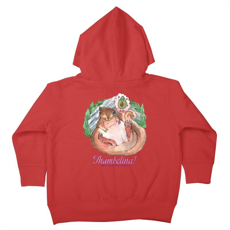 "Clothing - ""Sweet Dreams for Thumbelina"" Kids Toddler Zip-Up Hoody by Len Hernandez's Artist Shop"