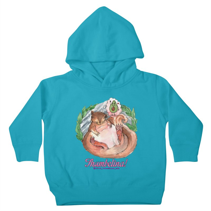 """Clothing - """"Sweet Dreams for Thumbelina"""" Kids Toddler Pullover Hoody by Len Hernandez's Artist Shop"""