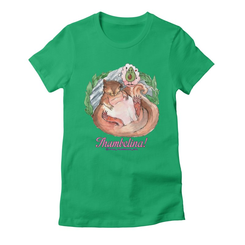"Clothing - ""Sweet Dreams for Thumbelina"" Women's Fitted T-Shirt by Len Hernandez's Artist Shop"