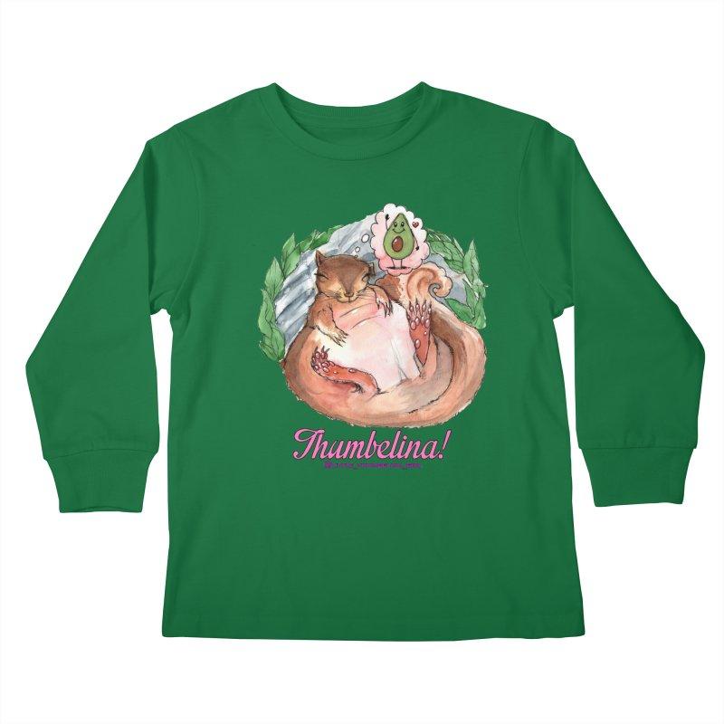 "Clothing - ""Sweet Dreams for Thumbelina"" Kids Longsleeve T-Shirt by Len Hernandez's Artist Shop"