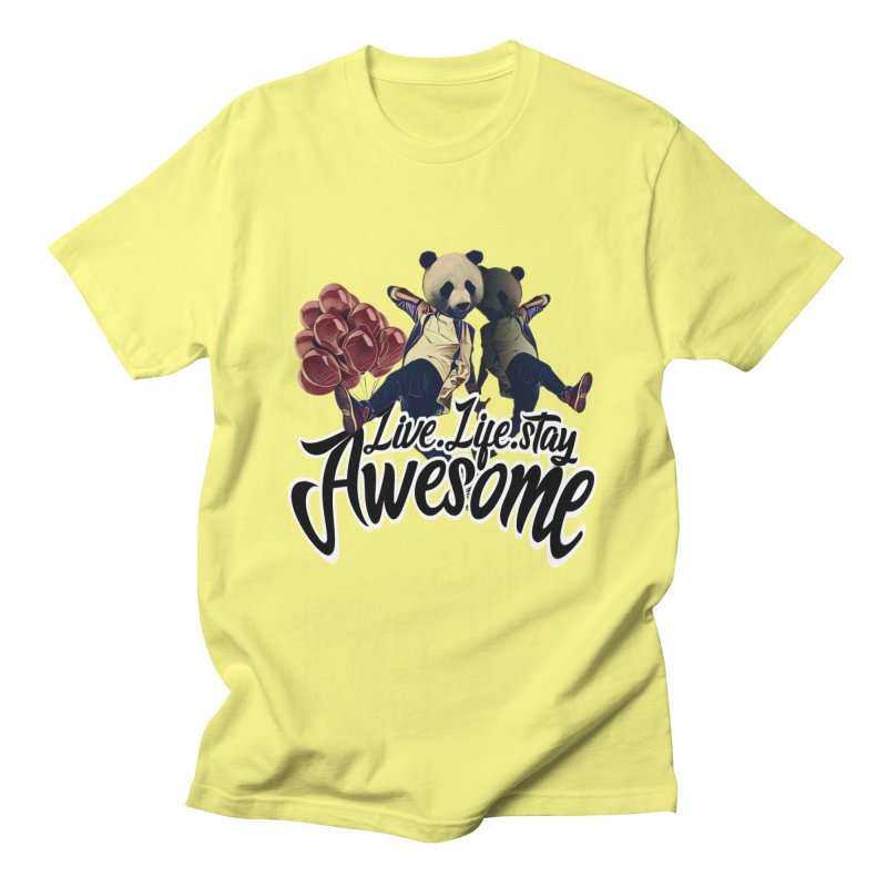 Live Life Stay Awesome Men's T-Shirt by Leonlegacy's Artist Shop