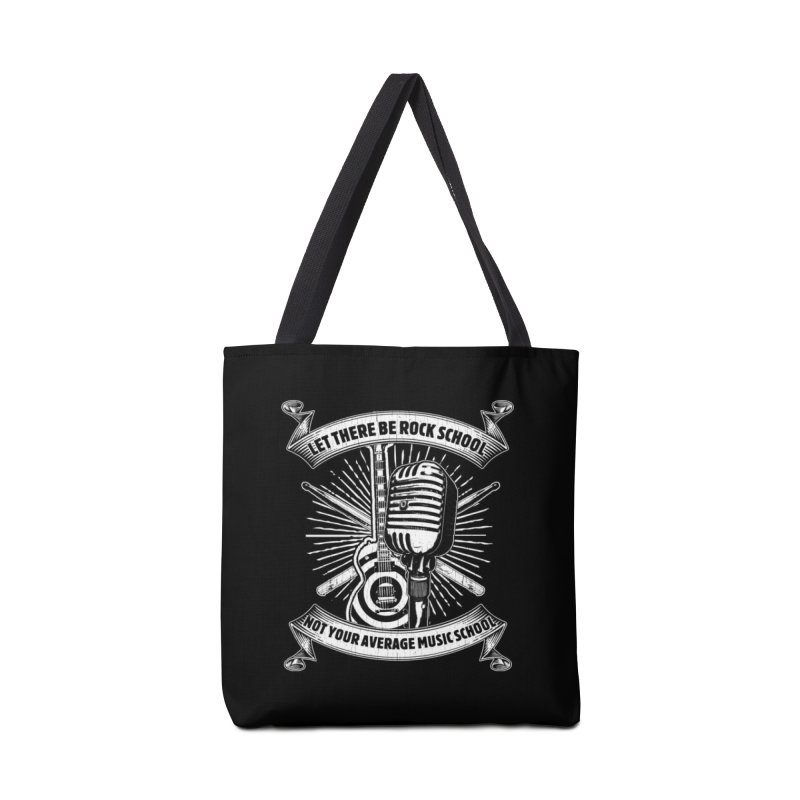 Microphone tee Accessories Tote Bag Bag by LetThereBeRock's Artist Shop