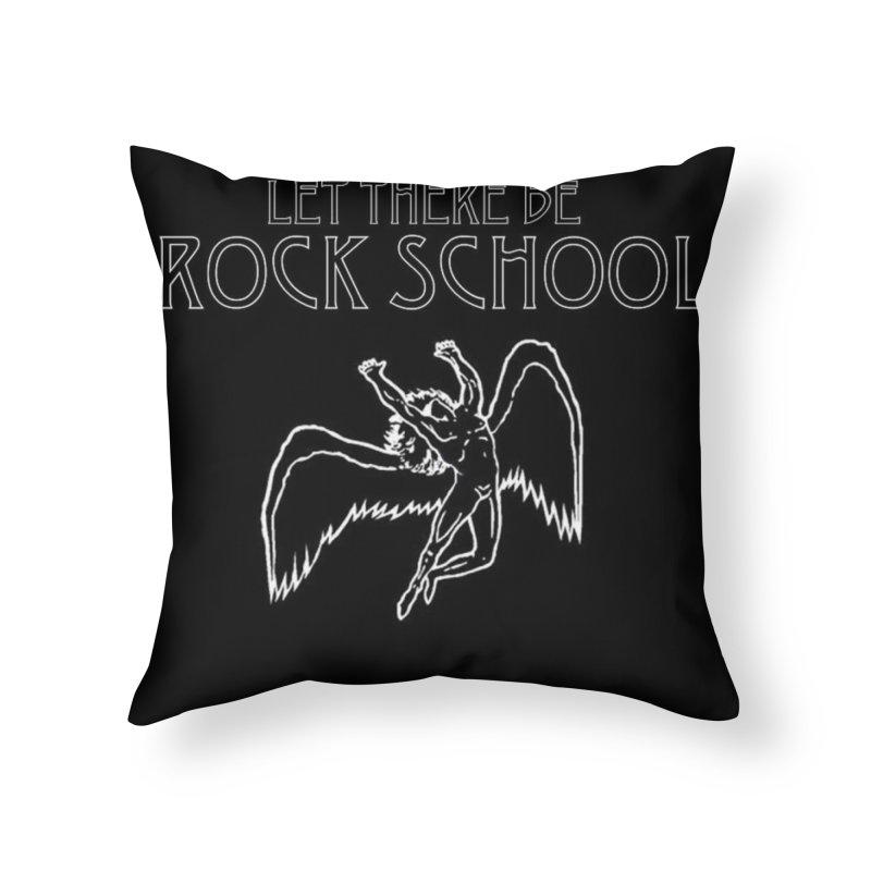 Zeppelin Style Rock School Logo Home Throw Pillow by LetThereBeRock's Artist Shop