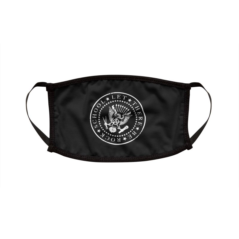 Ramones inspired Rock School Logo Accessories Face Mask by LetThereBeRock's Artist Shop