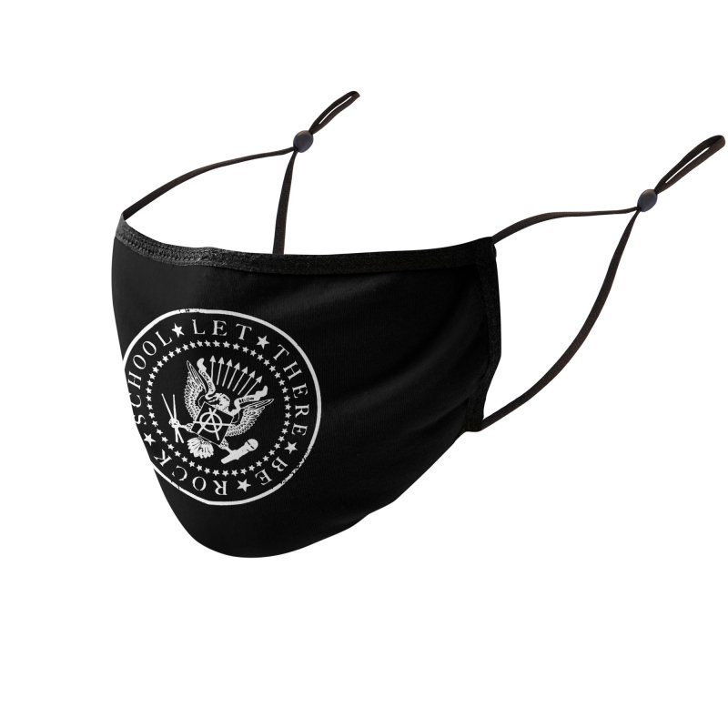 Ramones inspired Rock School Logo Accessories Face Mask by LetThereBeRock's Artist Shop