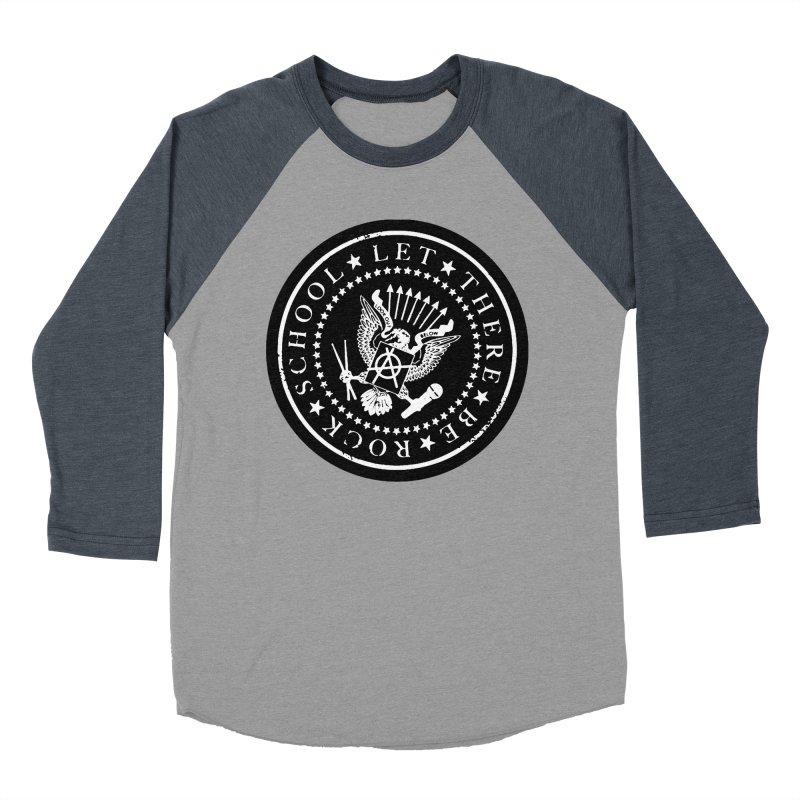 Ramones inspired Rock School Logo Women's Baseball Triblend Longsleeve T-Shirt by LetThereBeRock's Artist Shop