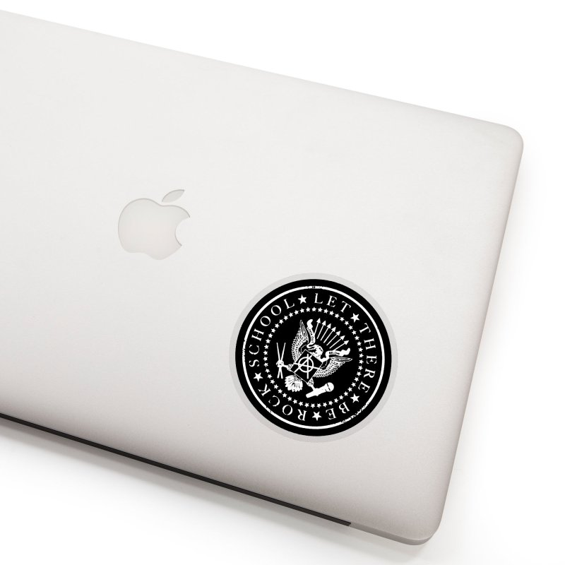 Ramones inspired Rock School Logo Accessories Sticker by LetThereBeRock's Artist Shop