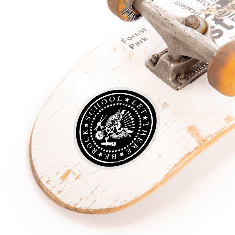 Ramones inspired Rock School Logo Accessories Sticker by LetThereBeRock's Artist Shop