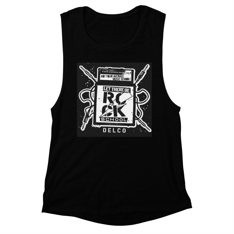 Let There Be Rock School  / DELCO  / Amp Design Women's Muscle Tank by LetThereBeRock's Artist Shop
