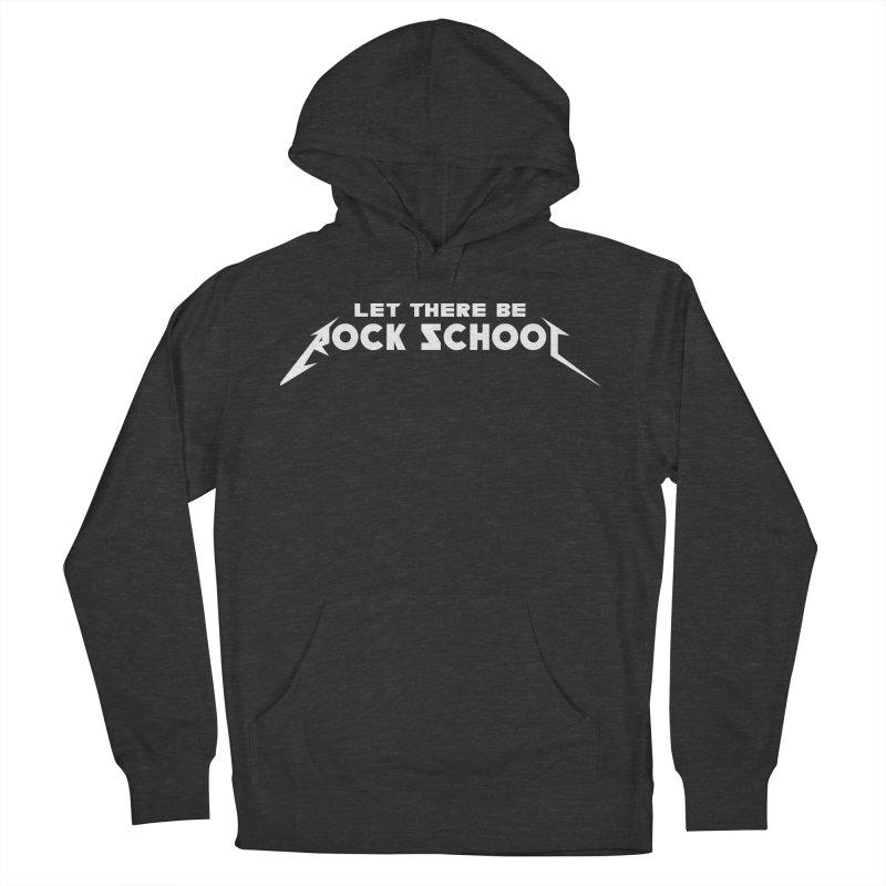 Rock School Metallica Inspired Logo White Print Men's Pullover Hoody by LetThereBeRock's Artist Shop