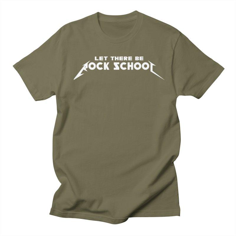 Rock School Metallica Inspired Logo White Print Women's Regular Unisex T-Shirt by LetThereBeRock's Artist Shop