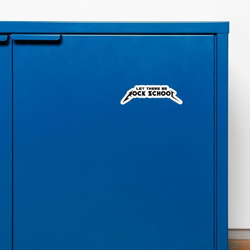 Rock School Metallica inspired Black logo Accessories Magnet by LetThereBeRock's Artist Shop