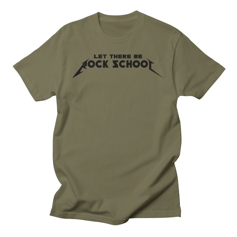 Rock School Metallica inspired Black logo Men's Regular T-Shirt by LetThereBeRock's Artist Shop