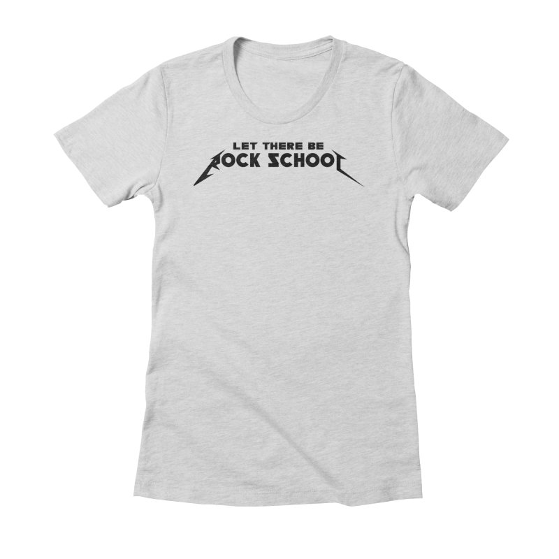 Rock School Metallica inspired Black logo Women's Fitted T-Shirt by LetThereBeRock's Artist Shop