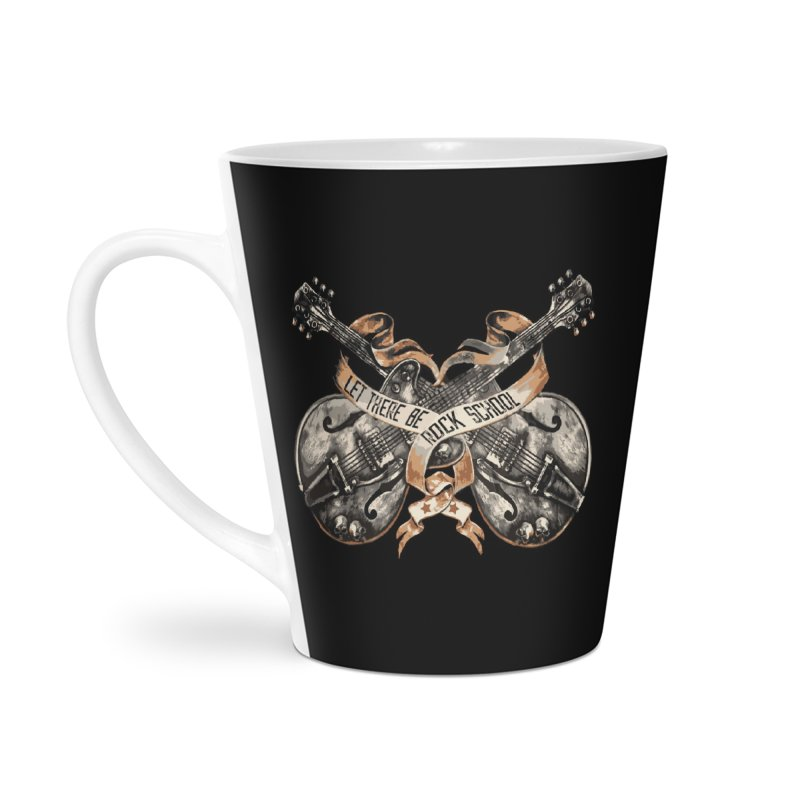 Dueling Guitars! Accessories Latte Mug by LetThereBeRock's Artist Shop