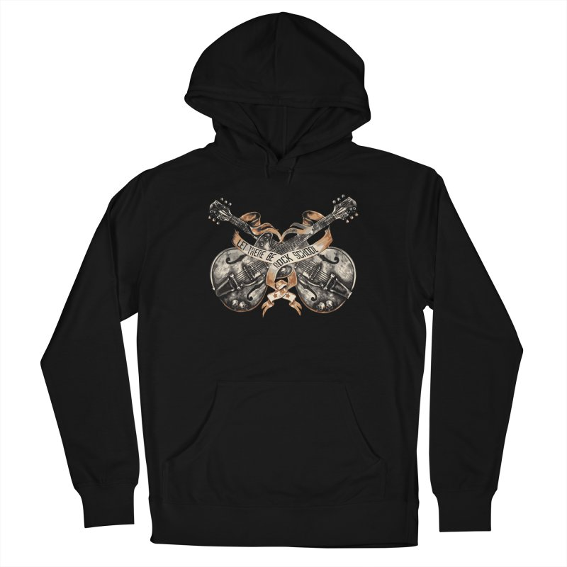 Dueling Guitars! Women's French Terry Pullover Hoody by LetThereBeRock's Artist Shop