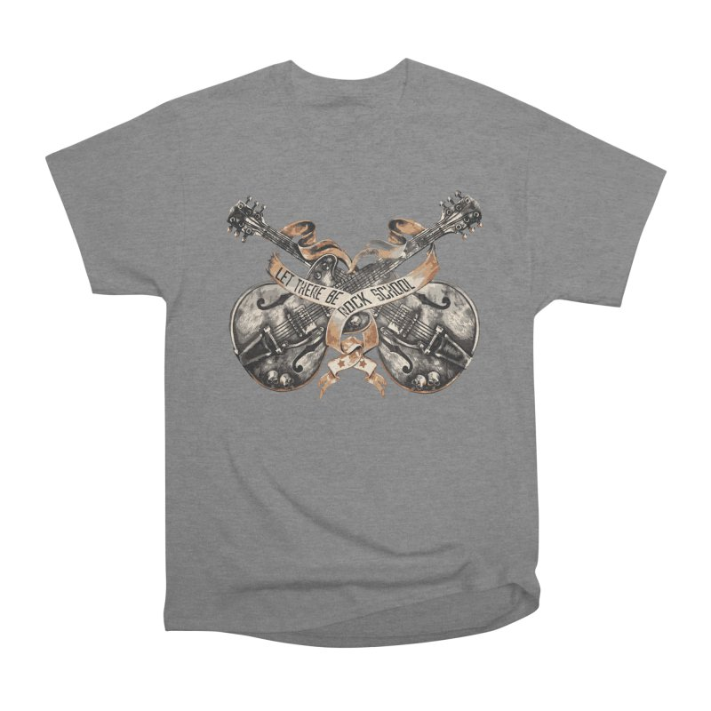 Dueling Guitars! Men's Heavyweight T-Shirt by LetThereBeRock's Artist Shop