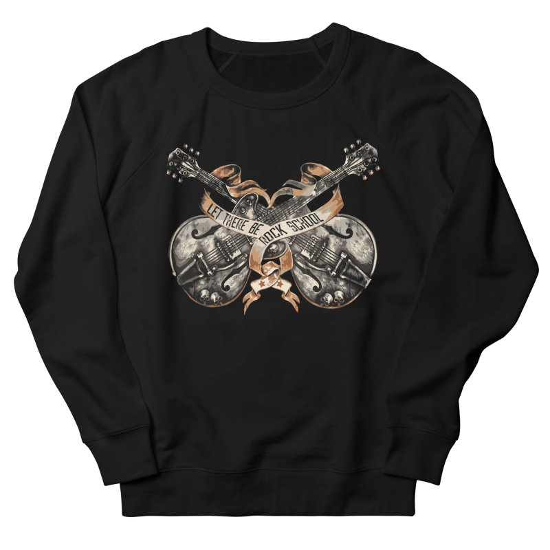 Dueling Guitars! Men's French Terry Sweatshirt by LetThereBeRock's Artist Shop