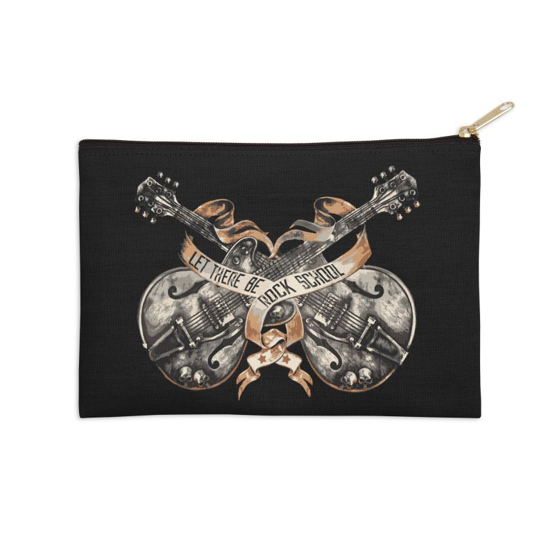 Dueling Guitars! Accessories Zip Pouch by LetThereBeRock's Artist Shop