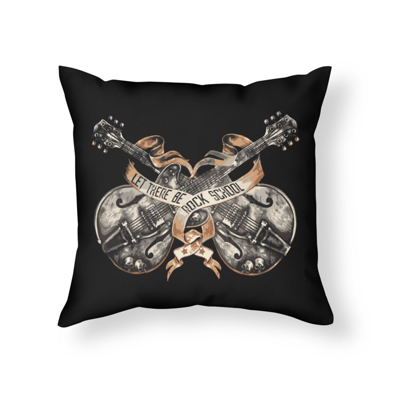 Dueling Guitars! Home Throw Pillow by LetThereBeRock's Artist Shop