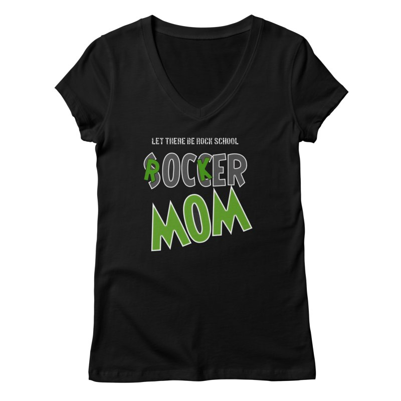 Moms ROCK! Women's V-Neck by LetThereBeRock's Artist Shop