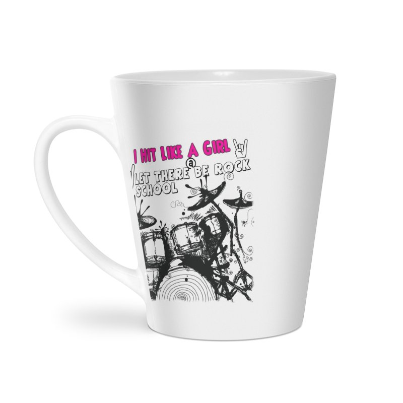Girl Drummers ROCK! Accessories Latte Mug by LetThereBeRock's Artist Shop