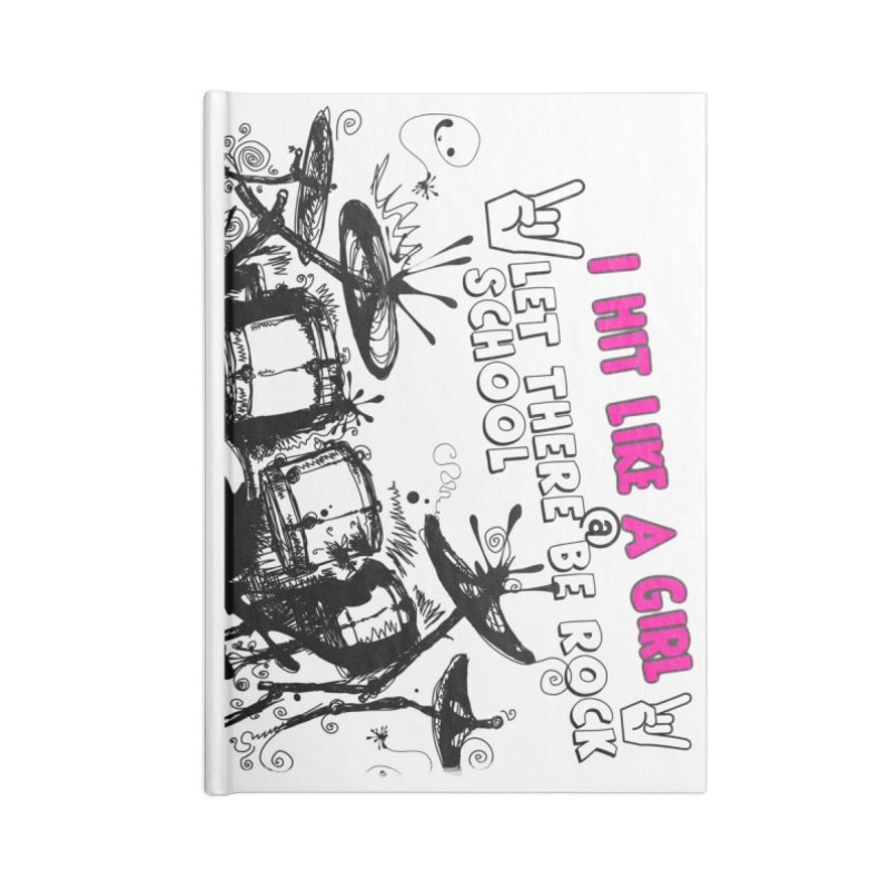 Girl Drummers ROCK! Accessories Lined Journal Notebook by LetThereBeRock's Artist Shop
