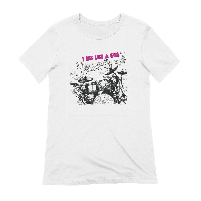Girl Drummers ROCK! Women's T-Shirt by LetThereBeRock's Artist Shop