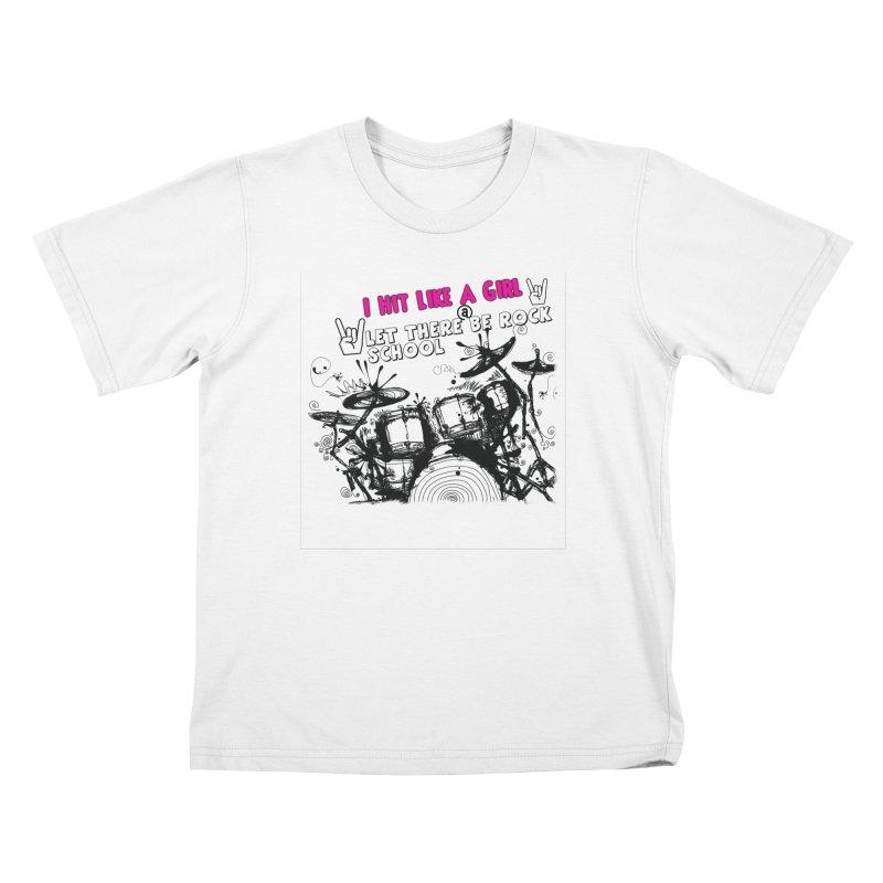 Girl Drummers ROCK! Kids T-Shirt by LetThereBeRock's Artist Shop