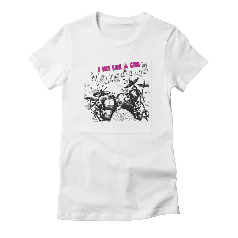 Girl Drummers ROCK! Women's Fitted T-Shirt by LetThereBeRock's Artist Shop