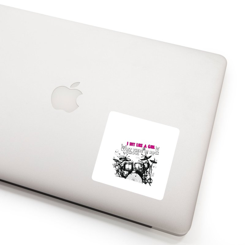 Girl Drummers ROCK! Accessories Sticker by LetThereBeRock's Artist Shop